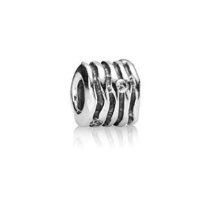 Authentic Pandora Sterling Silver Charm w/ CZ